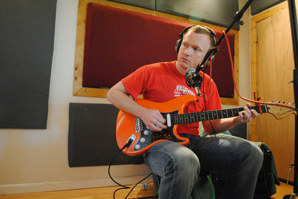 Mike Killeen in studio