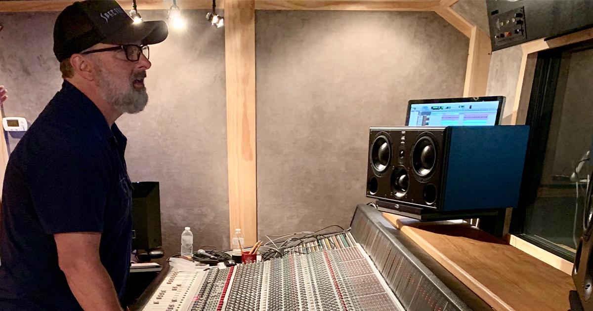 Ken Coomer in studio