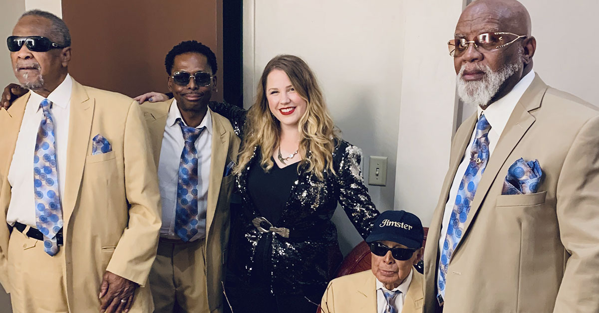 Kristen Englenz with the Blind Boys of Alabama